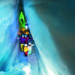A tiroli jégbarlang mélyén