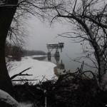 Elhagyatott monstrum a Duna vizében
