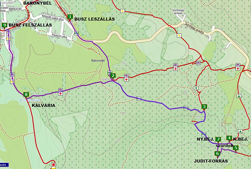bakonybél túraútvonal térkép A Kerteskői szurdok ösvényén   TravelZona