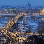Budapest: jégzajlás a vén Dunán
